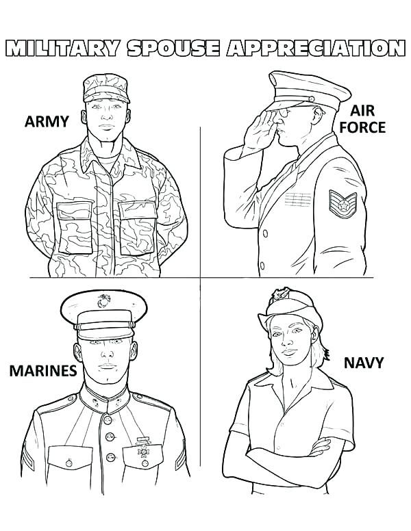 Army Coloring Pages Military Coloring Page Military Spouse