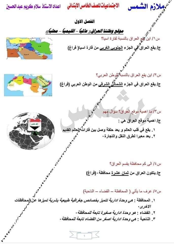 اوراق ملخص اجتماعيات خامس ابتدائي إعداد الأستاذ سلام كريم اهلا بكم متابعي موقع وقناة الاستاذ احمد مهدي شلال في هذا الموضوع سنعرض لكم شرح Blog Blog Posts Map