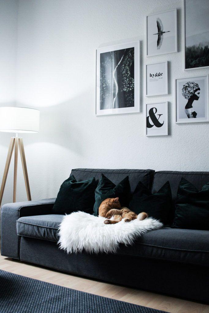 Ein Blick Ins Wohnzimmer Meine Bilderwand Mit Desenio Room Decor