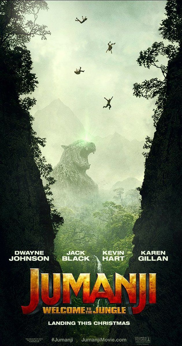 Directed by Jake Kasdan.  With Dwayne Johnson, Karen Gillan, Kevin Hart, Jack Black. In a brand new Jumanji adventure, four high school kids discover an old video game console and are drawn into the game's jungle setting, literally becoming the adult avatars they chose. What they discover is that you don't just play Jumanji - you must survive it. To beat the game and return to the real world, they'll have to go on the most dangerous adventure of their lives, discover what Alan ......