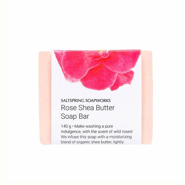 Rose Shea Butter Soap Bar from Saltspring Soapworks