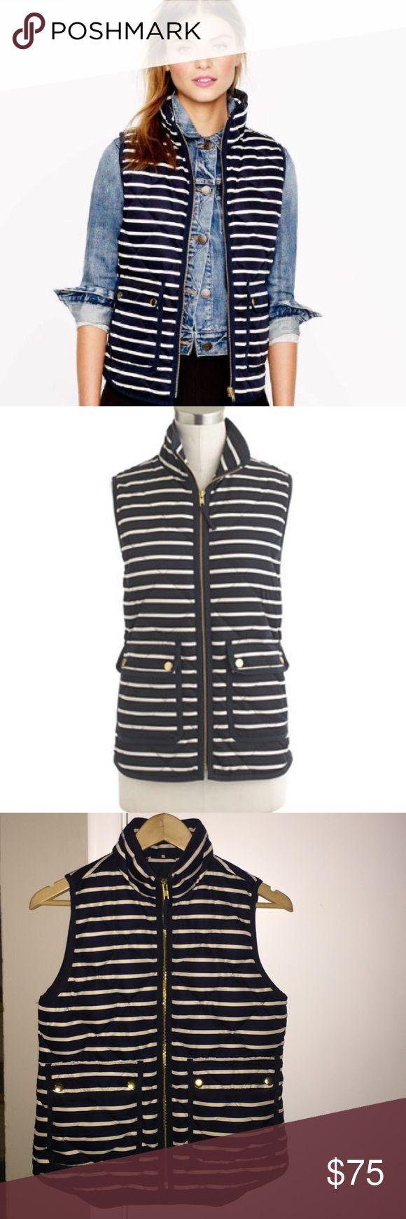 J. Crew Striped Vest 🌀Worn a few times 🌀Size XXS but fits more like XS/S J. Crew Jackets & Coats Vests