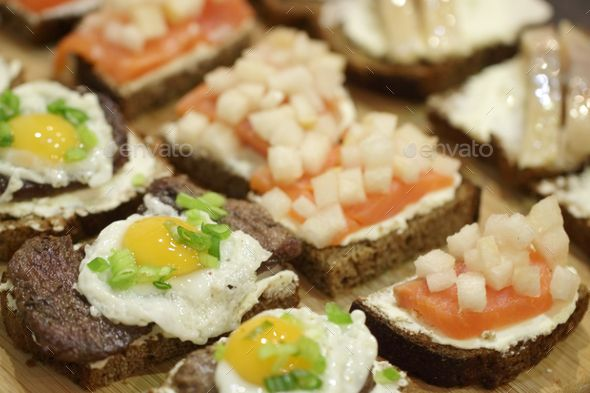 Different fresh mini sandwiche - Stock Photo - Images Download here : https://photodune.net/item/different-fresh-mini-sandwiche/20079705?s_rank=69&ref=Al-fatih