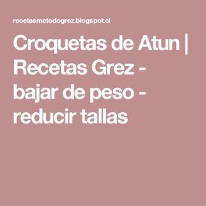 Croquetas de Atun         |          Recetas Grez - bajar de peso - reducir tallas