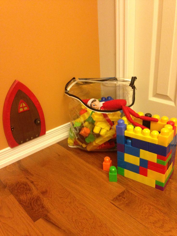 Day 2-Building a Mega Blocks castle.