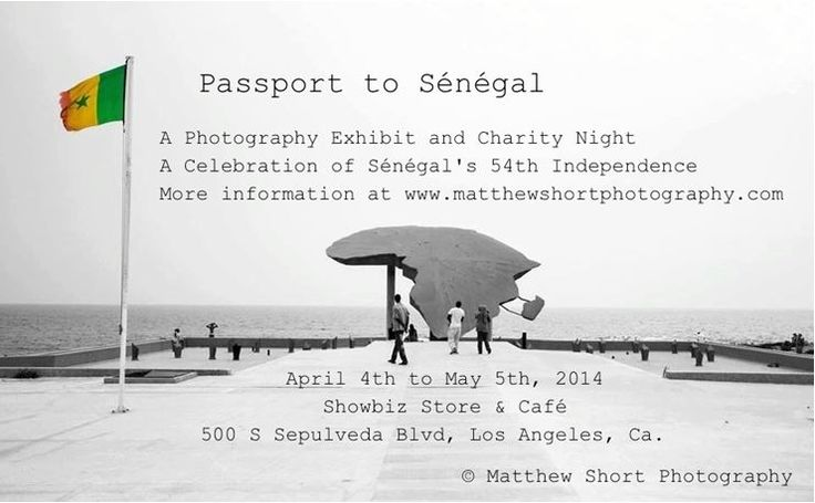 « Passport to Sénégal » Photography Exhibition and Charity Night http://www.wakhart.com/events/passport-to-senegal/