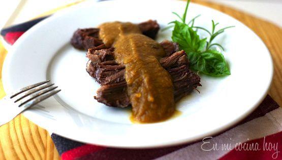 Carne a la cacerola con salsa de verduras - En Mi Cocina Hoy