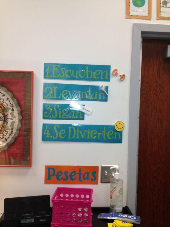 Spanish 1 Classroom Decorations : Best spanish bulletin board ideas images on pinterest