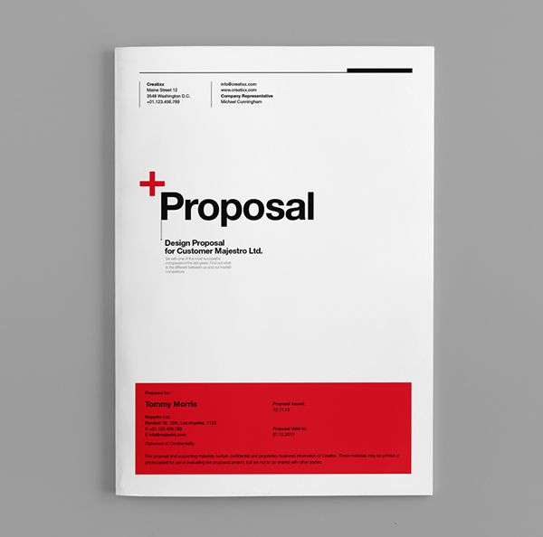 14 best images about proposal template – Proposal Cover Page Design