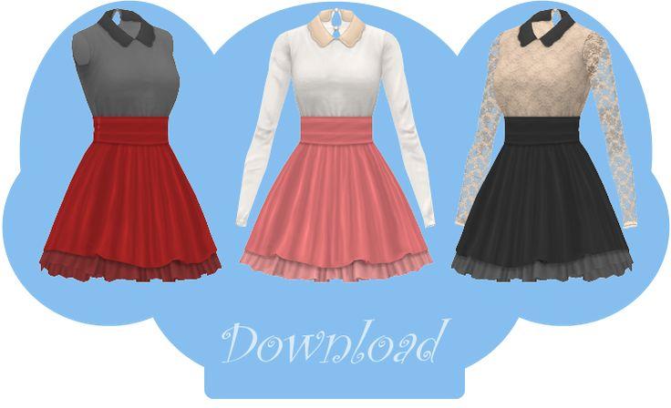 [MMD] COLLARED DRESS [+DL] by Sims3Ripper.deviantart.com on @DeviantArt