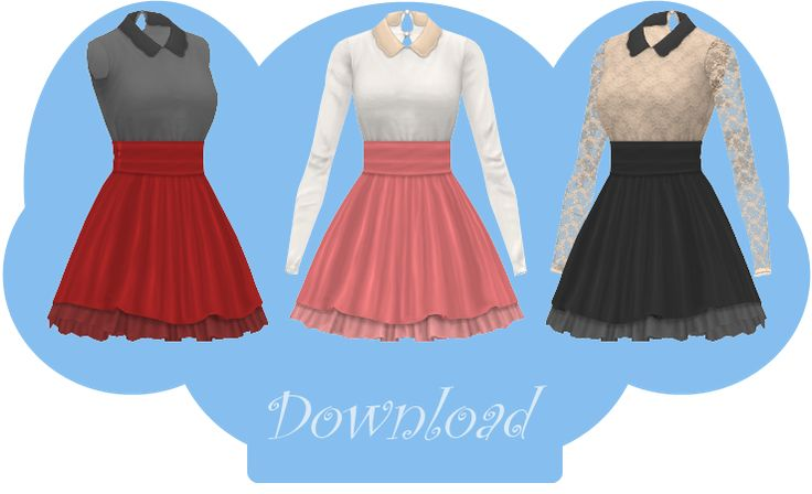 [MMD] COLLARED DRESS [+DL] by Sims3Ripper.deviantart.com on @DeviantArt