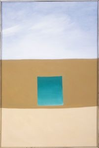 """Georgia O'Keeffe """"Green Patio Door"""" 1955 (Special Exhibit at the San Diego Museum of Art)"""