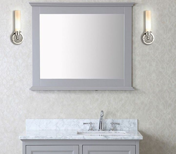 The Mirrors Size Is Usually Determined By The Length Of Your Vanitys Countertop 24 Inches Standard Sized In 2020 Bathroom Mirror 30 Inch Vanity Brown Bathroom Mirrors