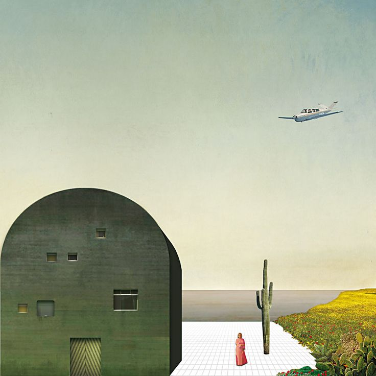2A+P/A imagined that the original drawing, made at Sottsass's vacation home on the island of Filicudi, represented an island house with a view of the sea. The rendering is by Silvia Groaz