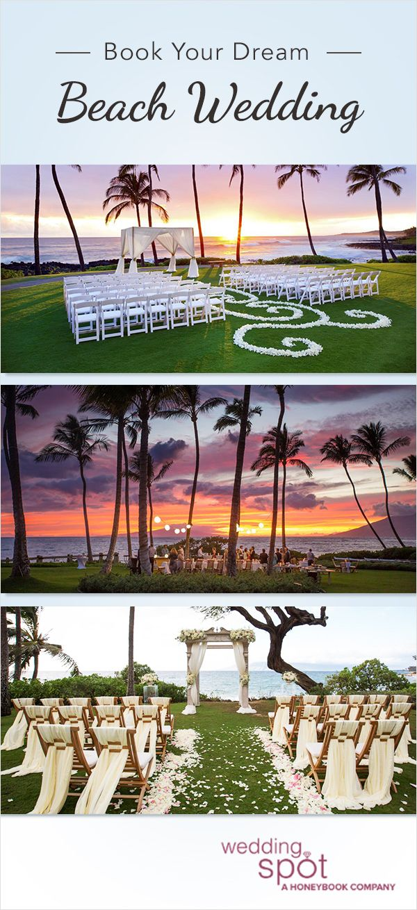 Dreaming of tying the knot on a beautiful sandy beach? Browse Wedding Spot's impressive selection of the most gorgeous waterfront venues near you - fit to your budget, style, and guest count. Book an appointment for your dream venue today!