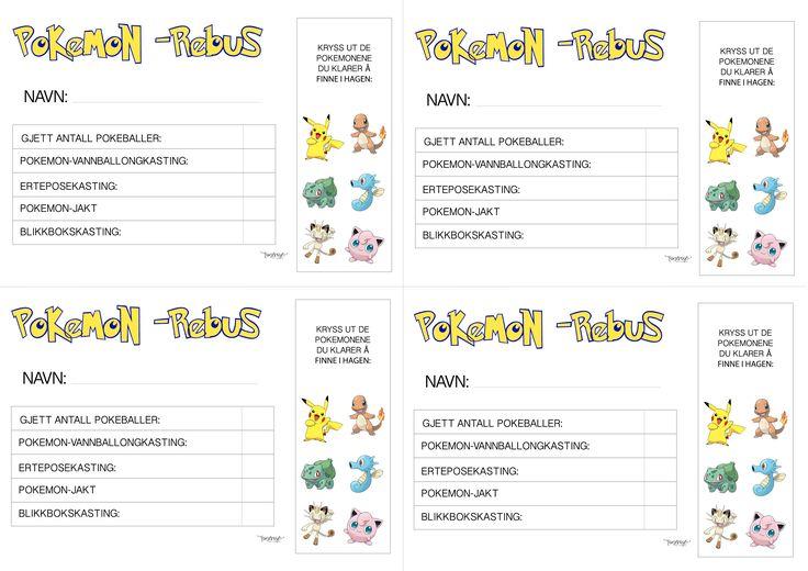 { Gratis print // Pokemon-Rebus-ark } - ToneroseDesign