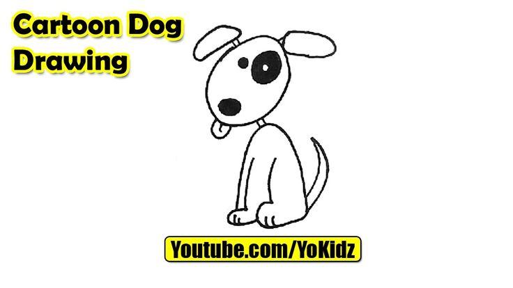 How to draw a Cartoon DOG for kids  Cartoon Dog Drawing from YoKidz  #YoKidz #Drawing #PencilDrawing #Generaldrawing #Like4like #Likeforlike #Share4share #Shareforshare #Draw #DrawCartoonDog #Blackandwhite #CartoonDog #Cartoon #Dog #DrawDog