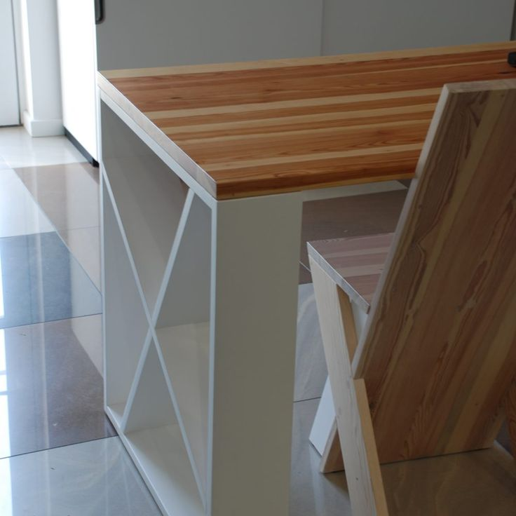 modern table and chairs from old wood