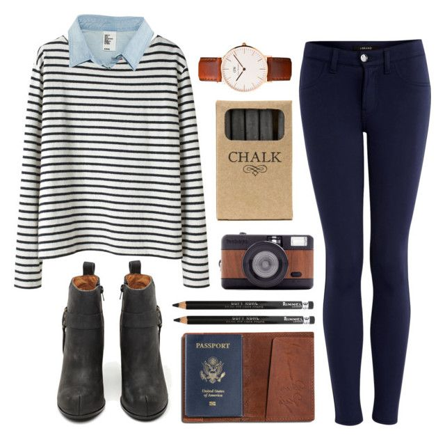 """""""Stripes"""" by hanaglatison ❤ liked on Polyvore featuring Wood Wood, H&M, J Brand, Jeffrey Campbell, TOMS, Jayson Home, Lomography and Rimmel"""