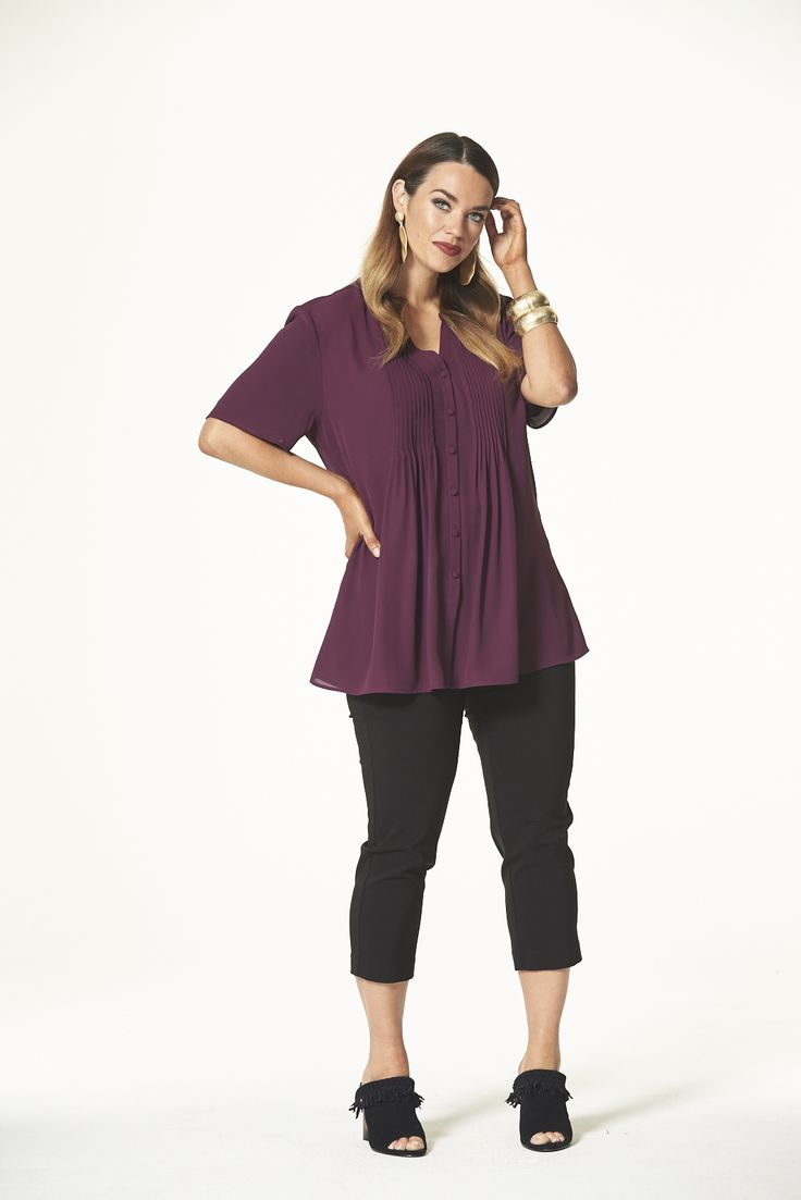 Spice Trail Pleated Shirt