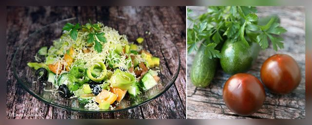 Вегетарианские рецепты: САЛАТ С АВОКАДО  Нам понадобятся авокадо, томаты, ...