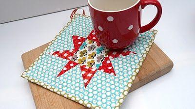 Starbright pot holder/mug rug tutorial