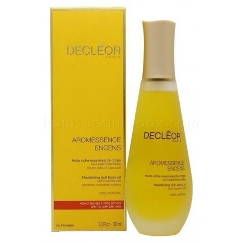 NOW AVAILABLE: Decleor Aromessen... http://www.kamsbeautybox.com/products/decleor-aromessence-encens-nourishing-rich-body-oil-100ml?utm_campaign=social_autopilot&utm_source=pin&utm_medium=pin