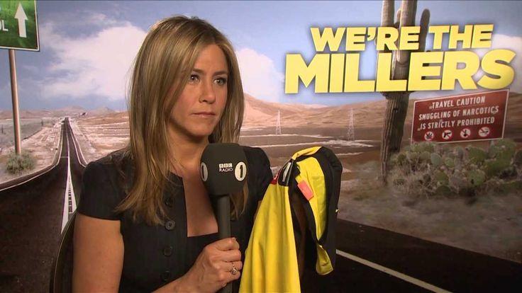 Jennifer Aniston talks to Chris Stark off the Scott Mills show on Radio 1