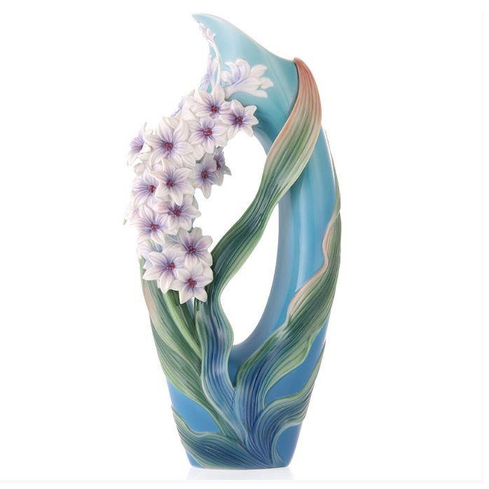 Hyacinth Vase | Sculptured Porcelain | Franz Porcelain