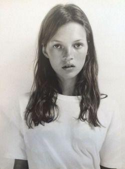 Baby Kate Moss #beauty #hair #model #90s: