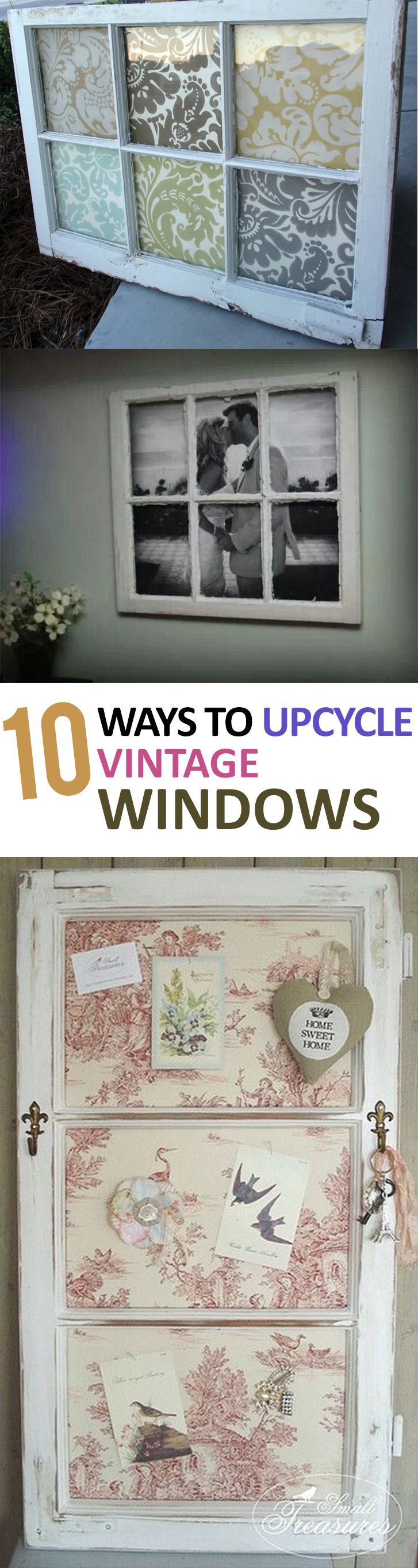 How to decorate with vintage windows.                                                                                                                                                                                 More