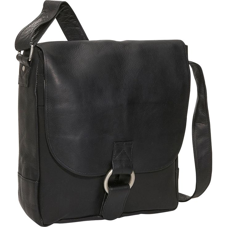 David King Leather Vertical Laptop Messenger Bag *** More info could be found at the image url. (This is an Amazon Affiliate link and I receive a commission for the sales)