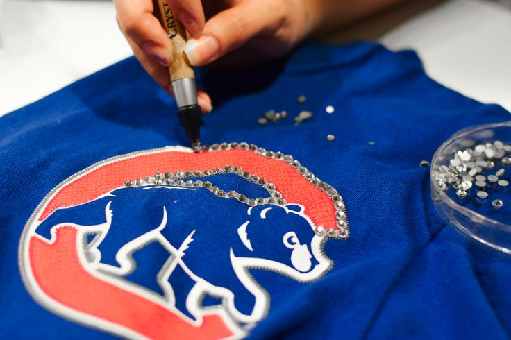 Your favorite Cubs fans are back in action! Learn how to create super sparkly fan gear from flatback crystals and sports tees or hats.