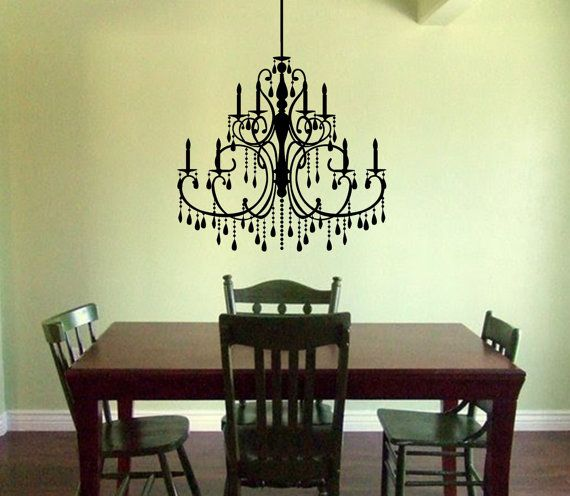 34 best wall decal images on pinterest wall decal wall decals chandelier wall decal victorian chandelier decal wall chandelier baroque style wall decal mozeypictures Gallery