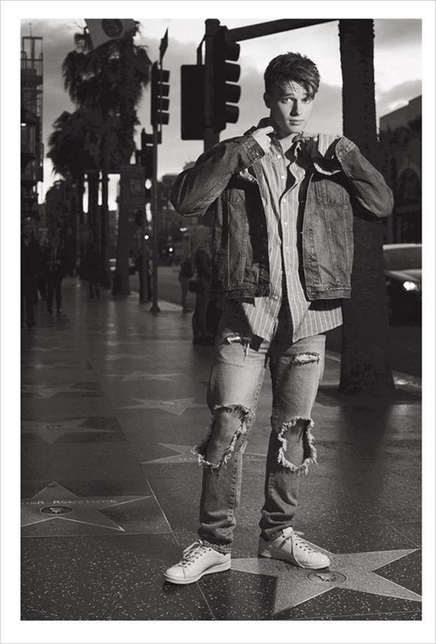 Patrick Schwarzenegger in Hollywood for L'Uomo Vogue