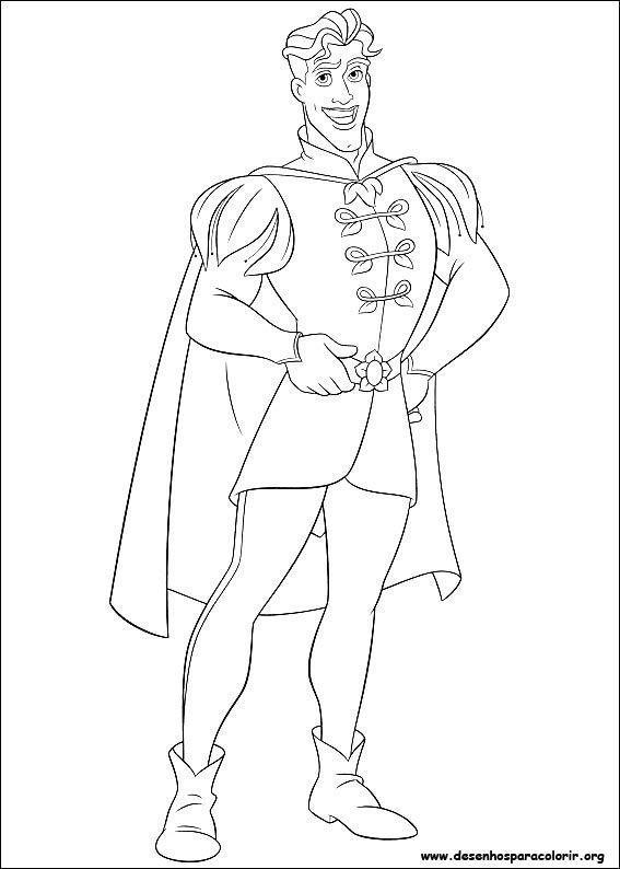 Resultado De Imagem Para Principe Da Branca De Neve Para Colorir