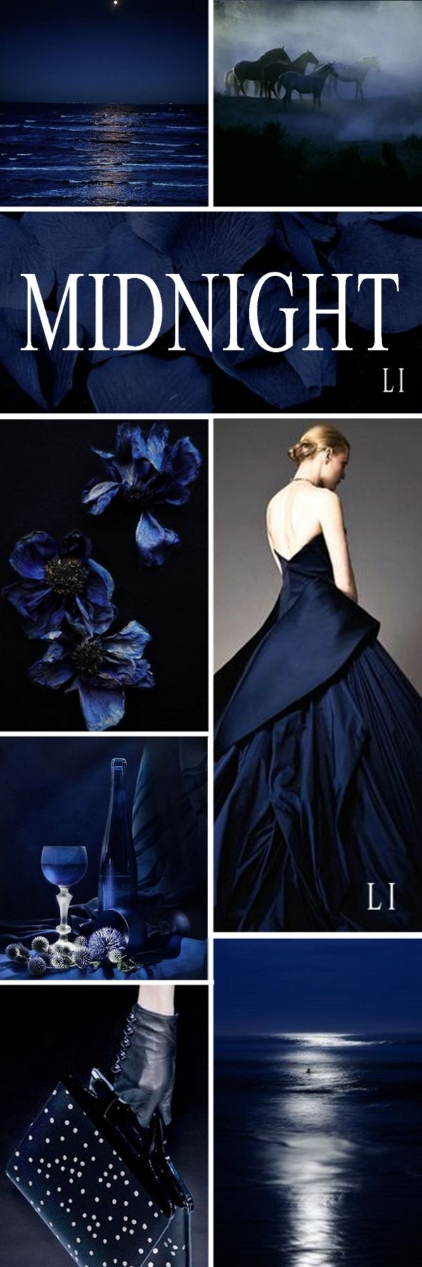 "Hi Ladies. Next let's pin this Color Board of "" MIDNIGHT BLUE "" thank you and happy pinning. ❤"