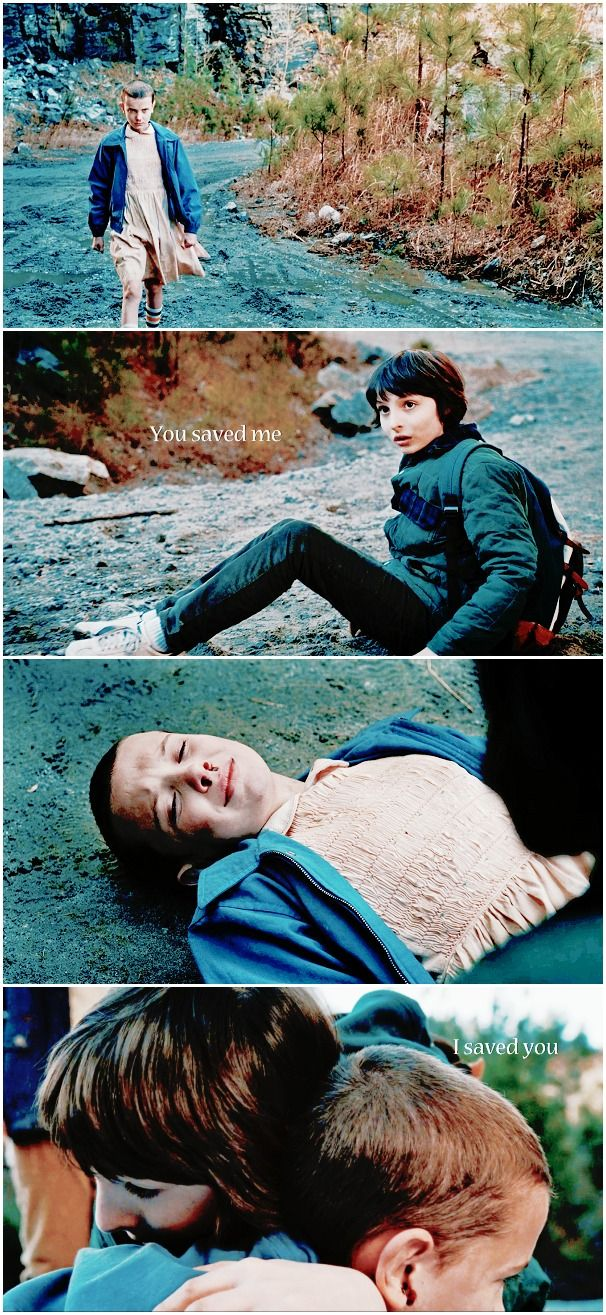 A miracle that was meant for two. No, El, you're not the monster. You saved me. #stranger things  #eleven x mike #1.06