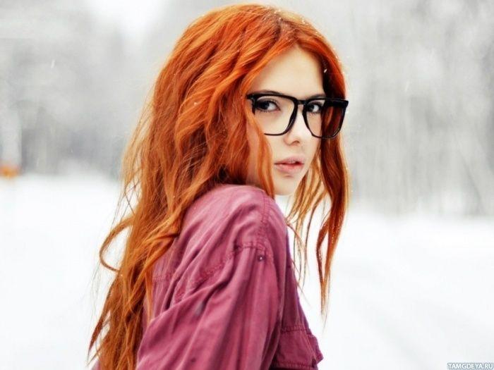Милая рыжая девушка в больших хипстерских очках - аватары ...