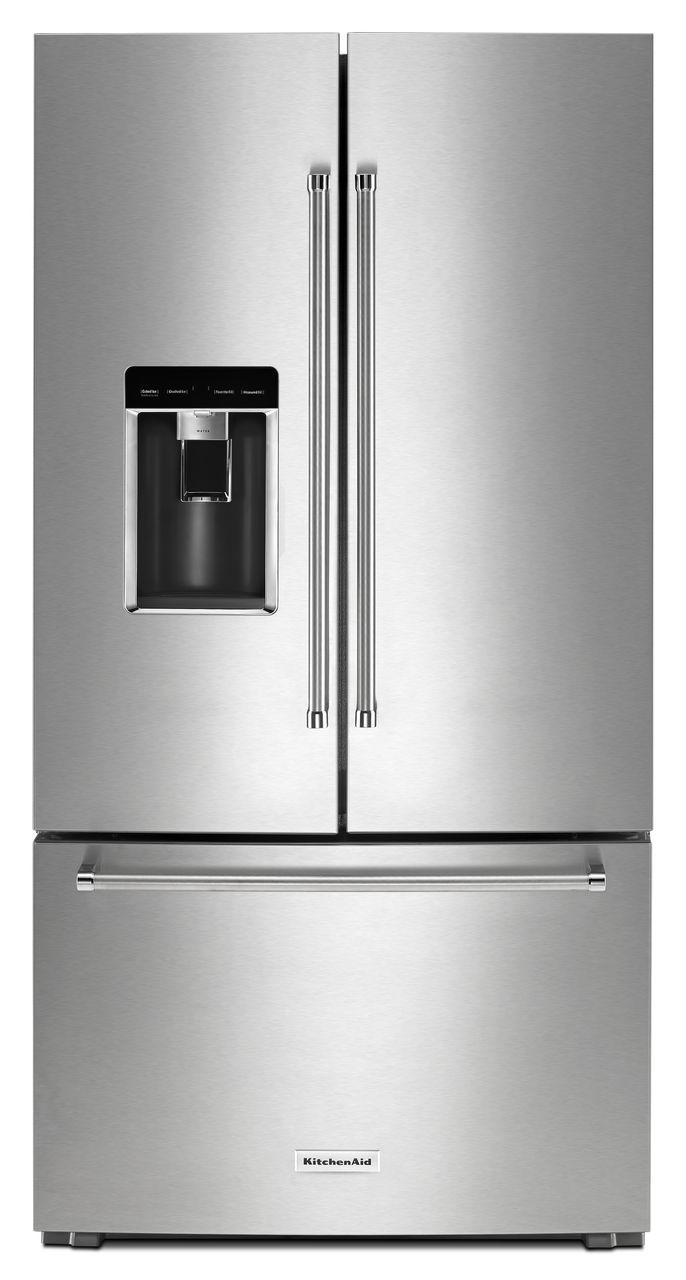 Krfc604fss By Kitchenaid French Door Refrigerators Goedekers Com French Door Refrigerator Kitchen Aid French Doors