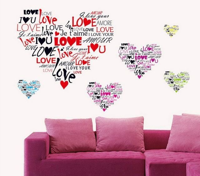 Buy now Multi-language I love you Heart Wall Sticker 7124 Removable Wall Decal Art Vinyl DIY home decor wallpaper Wedding Decoration just only $3.29 with free shipping worldwide  #wallstickers Plese click on picture to see our special price for you