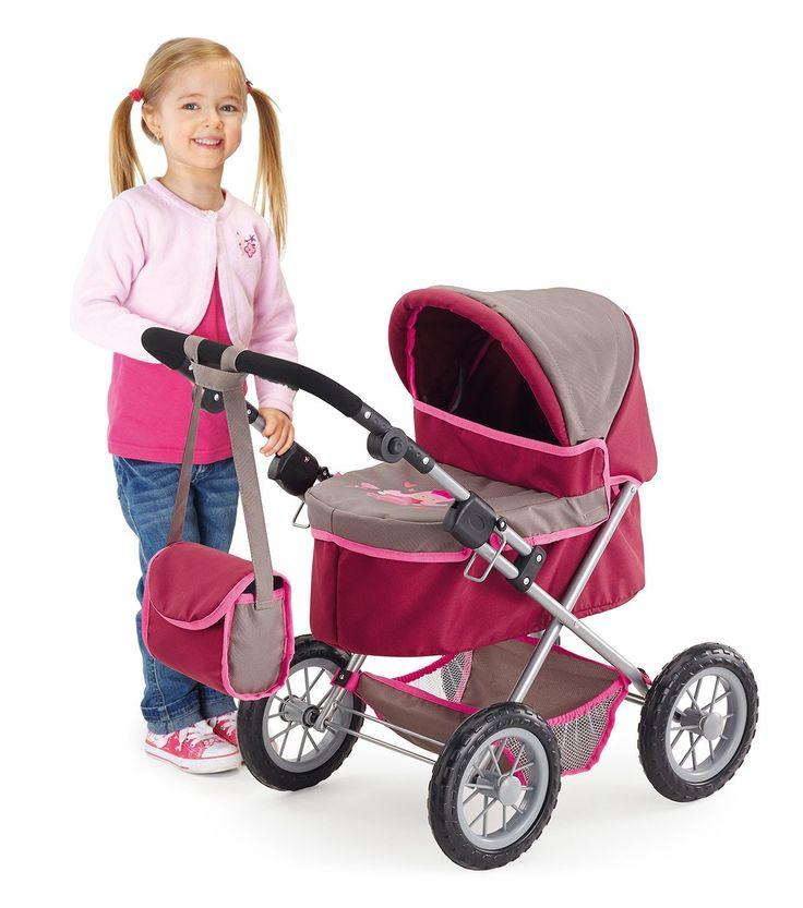 Bayer Design 1307800 - Puppenwagen Trendy, grau/pink: Amazon.de: Spielzeug