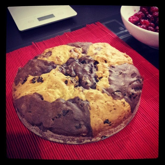 Recipe of my mum! with cocoa and carob flakes, gourgeous