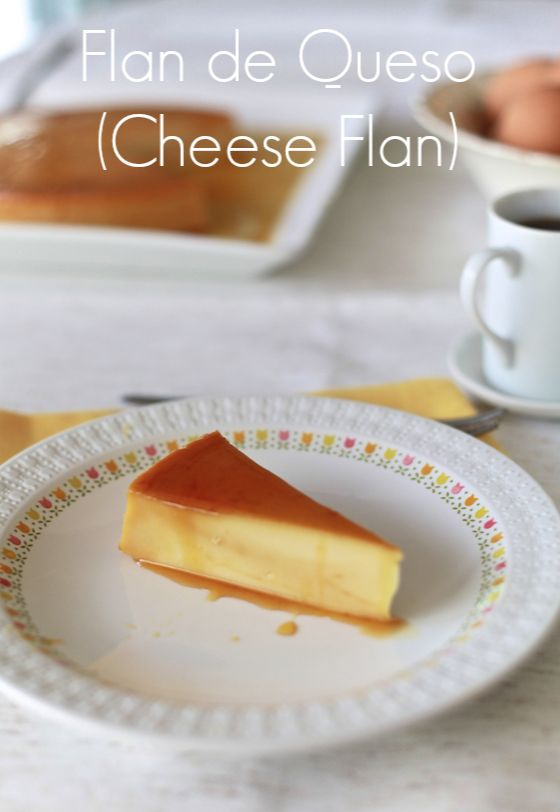 Flan de Queso (Cheese Flan) by @Meseidy Rivera/ The Noshery