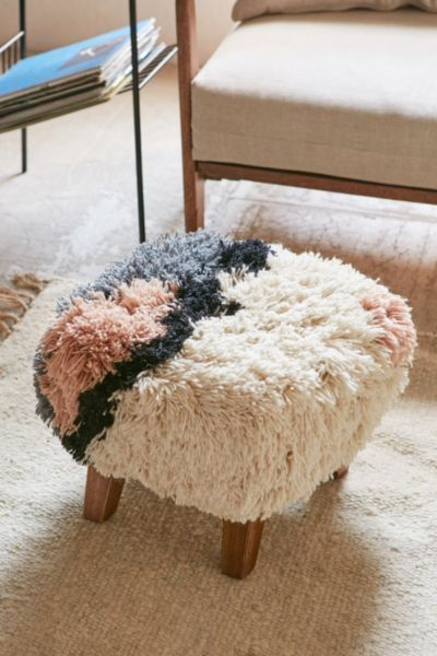 """srta-pepis: """"  ☆ Magical Thinking Shaggy Ottoman - Urban Outfitters """""""