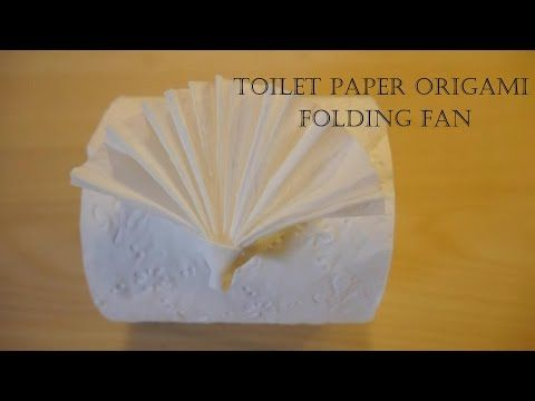 How to make Toilet Paper Origami Folding Fan (easy!) - YouTube