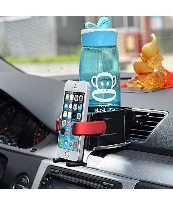 Bestek Car Cup Holder Combo Car Phone Holder Air Conditioner Vent Mount Insert With Adjust Size For Vehicle Automobile
