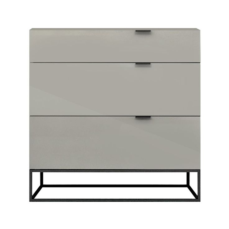 Shop CasaBianca  CB-1406-SINGLEDG Vizzione 3-Drawer Tall Nightstand at The Mine. Browse our nightstands, all with free shipping and best price guaranteed.