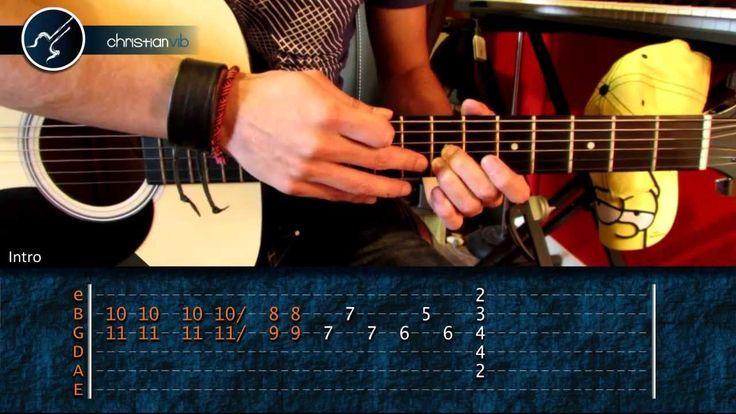 """Cómo tocar """"La Célula Que Explota"""" de Caifanes en guitarra (HD) Tutorial..."""