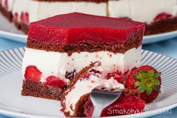 Lekkie ciasto z masą jogurtową